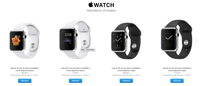 Apple Watch de Apple. Precios.