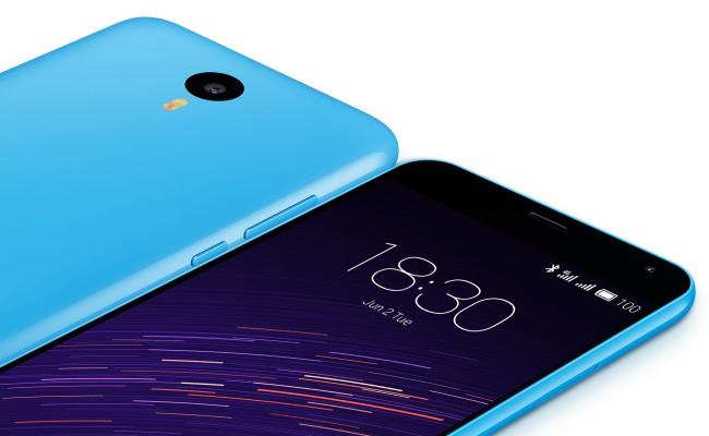 Meizu M2 Note de color azul