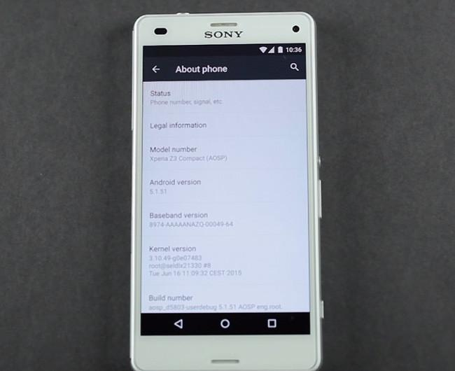 Sony Xperia Z3 Compact con Android M Developer Preview