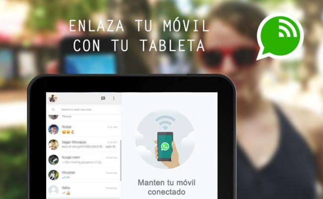 Utilizar WhatsApp en tablet