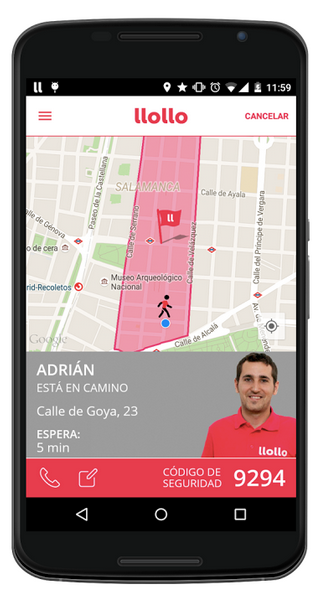 App llollo en movil Android