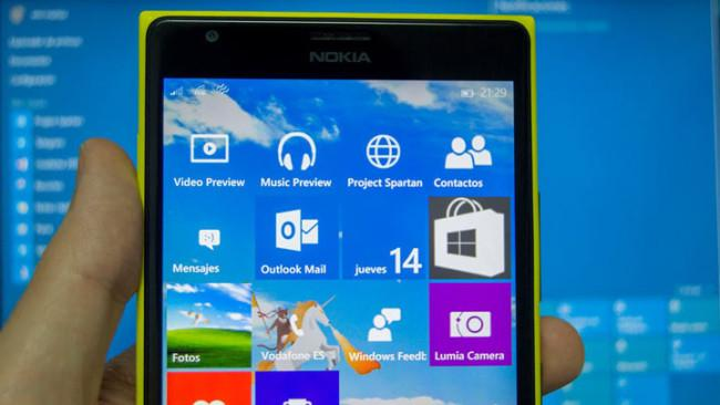 Nokia Lumia con Windows 10 Mobile
