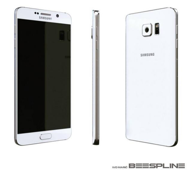 Samsung Galaxy Note 5 render blanco