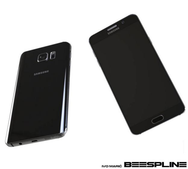 Samsung Galaxy Note 5 render negro