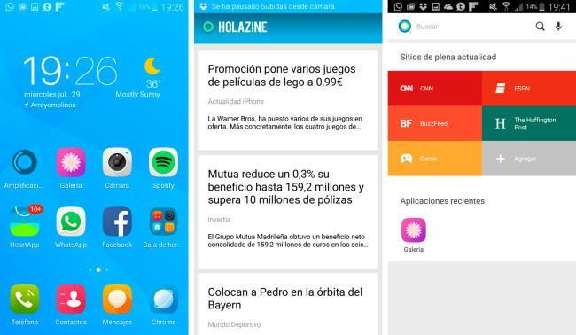 Hola Launcher para Android.
