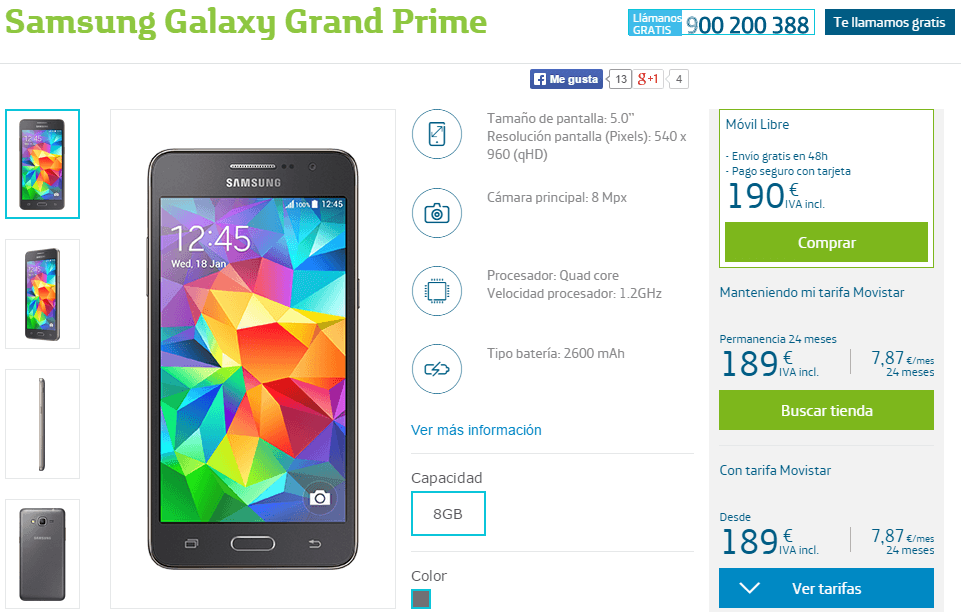 samsung galaxy grand prime movistar