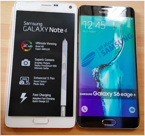 Galaxy S6 Edge Plus vs Galaxy Note 4.