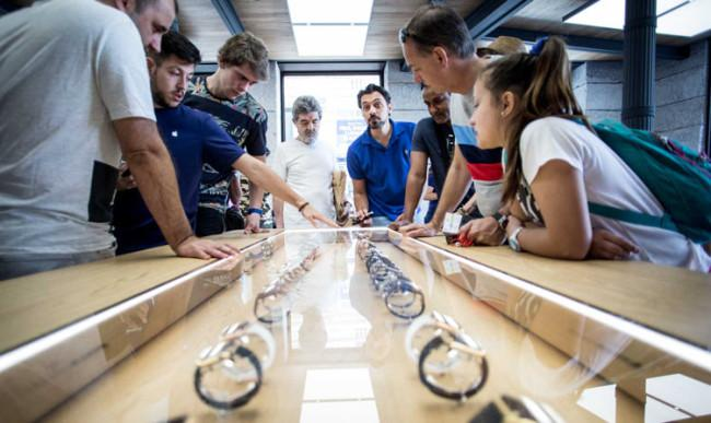Apple Watch en una tienda de Apple