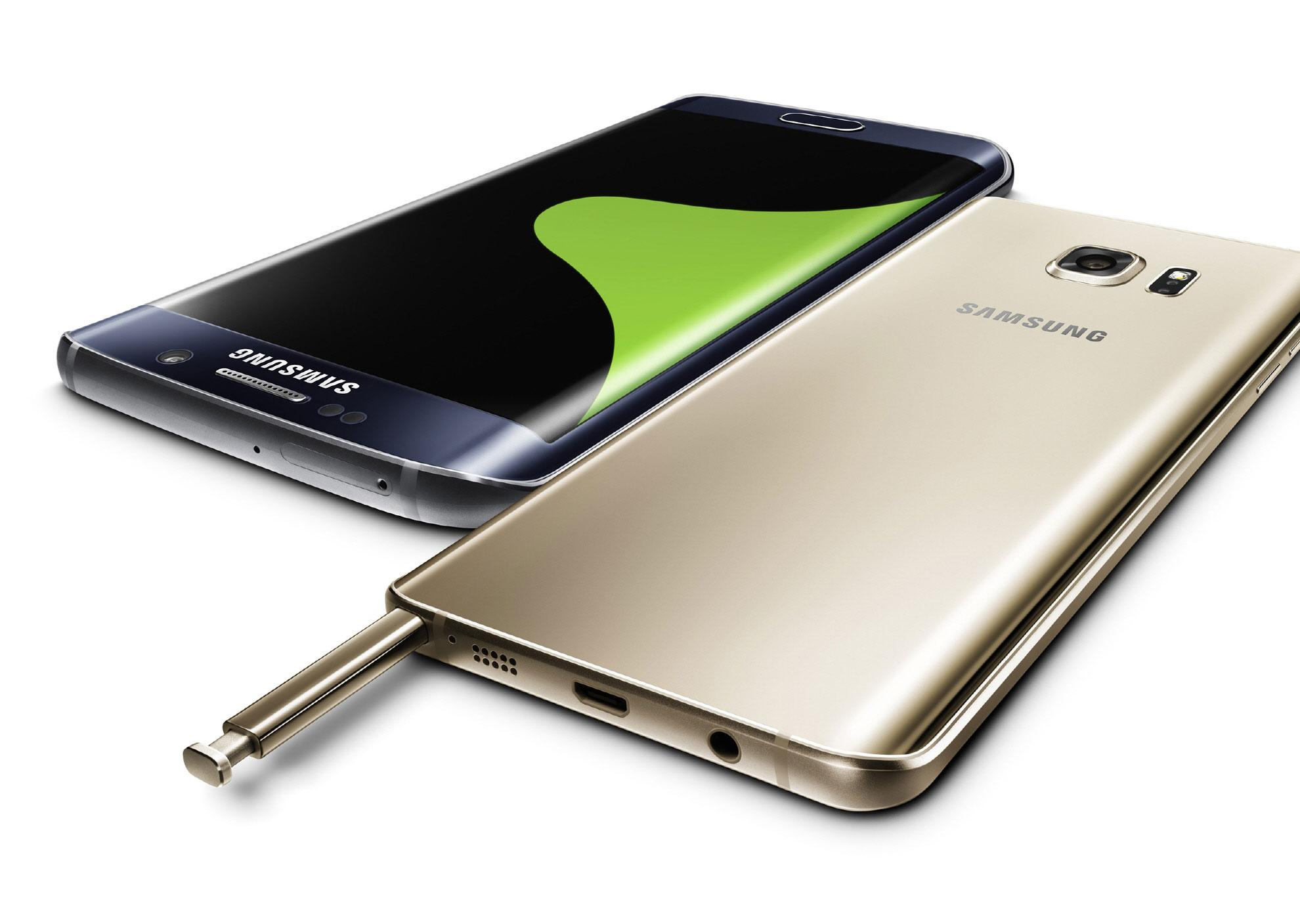 S6 Edge dorado y Note 5 en color dorado