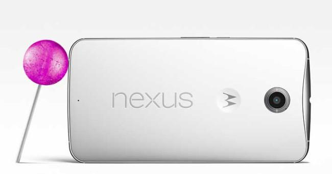 Nexus 6 con Android-OS Lollipop