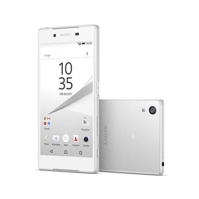 Sony Xperia Z5 en color blanco