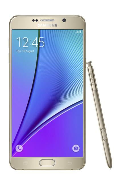 Frontal del Samsung Galaxy Note 5