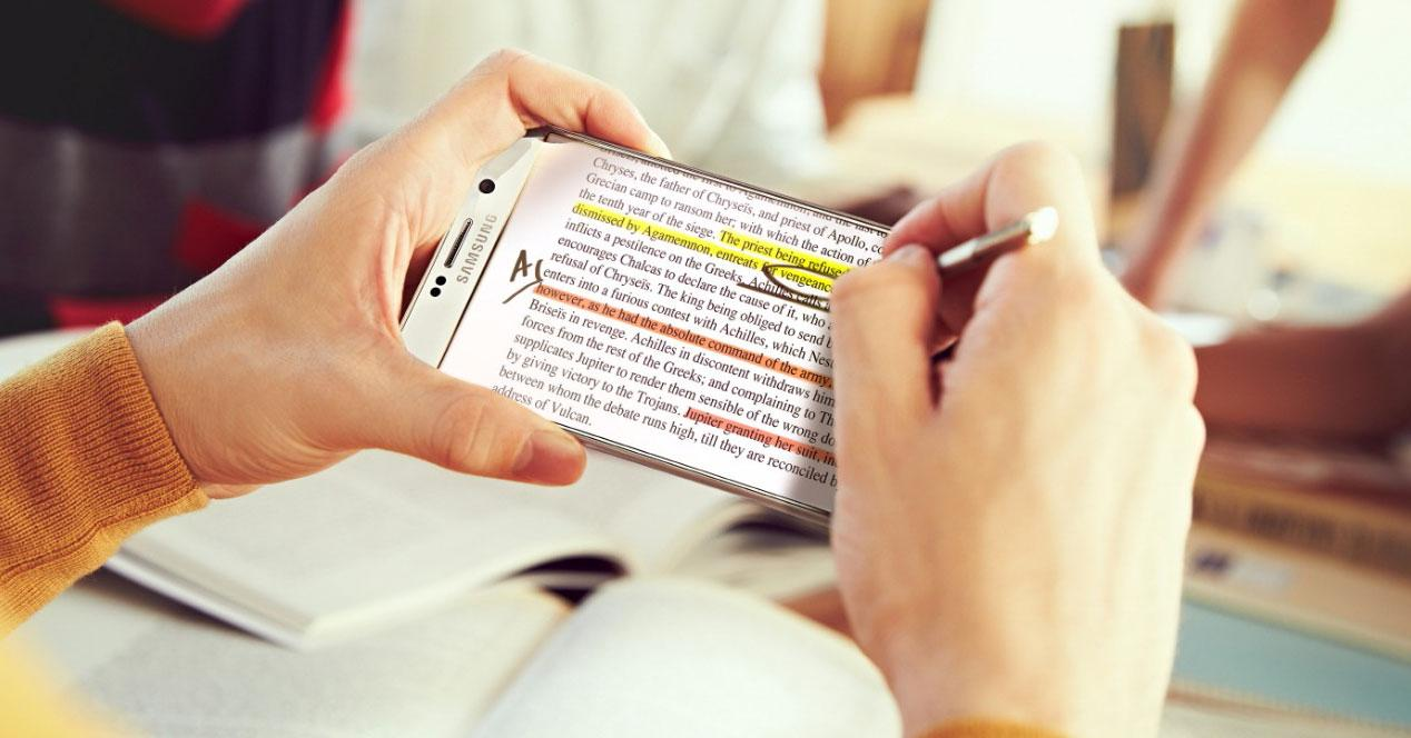 Galaxy Note 5 frontal con S Pen usado