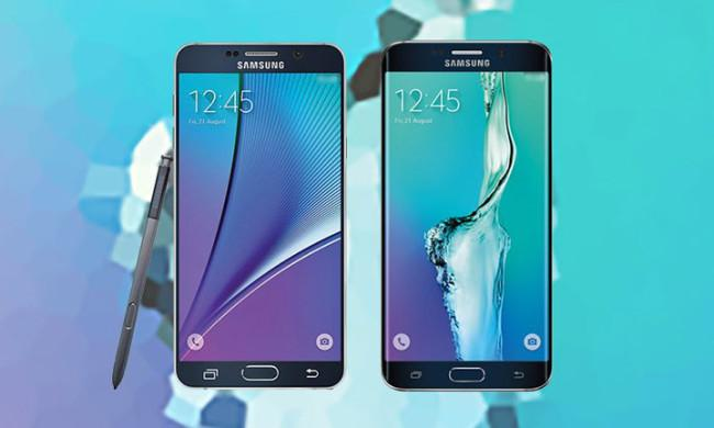 Samsung Galaxy Note 5 enfrentado al Samsung Galaxy S6 Edge Plus