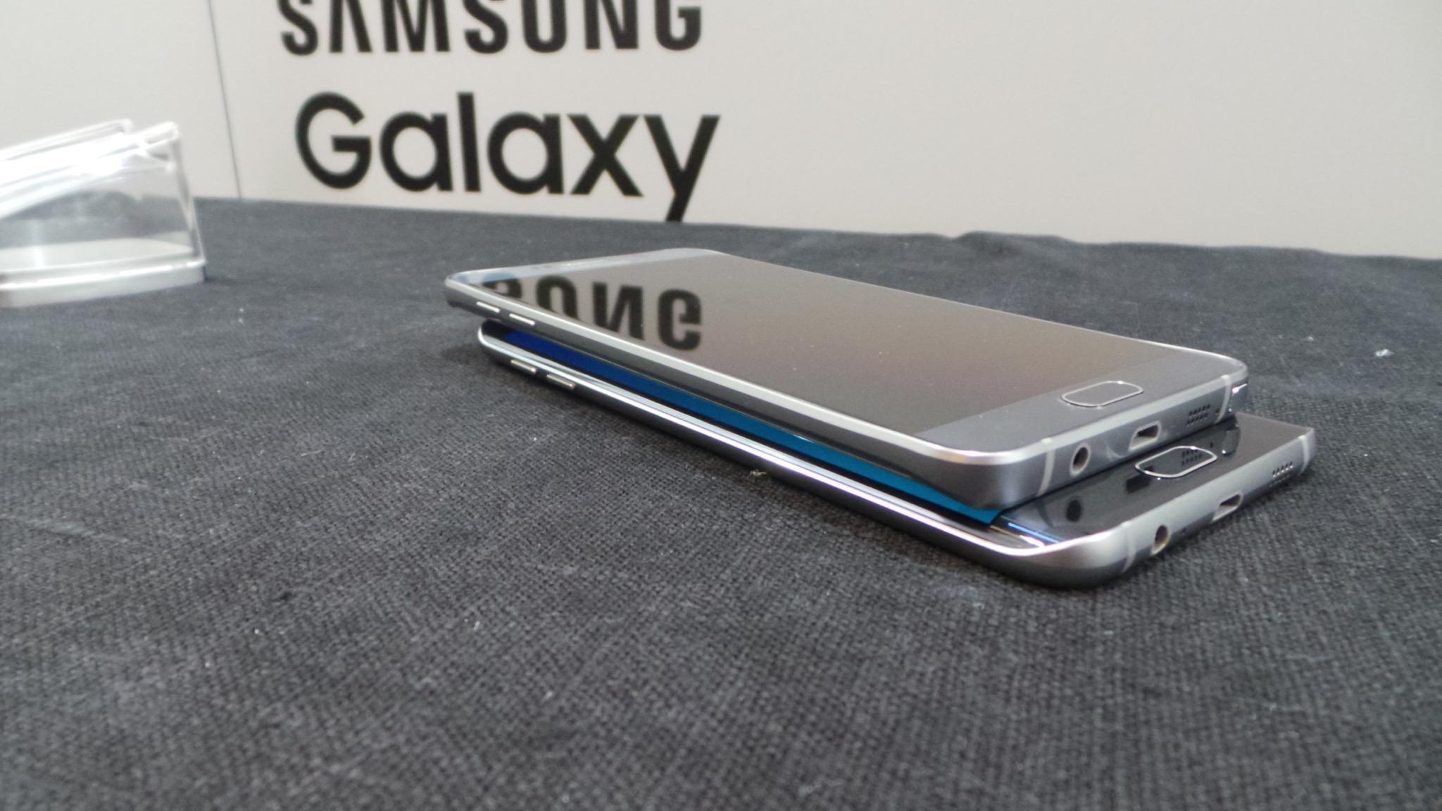 Samsung Galaxy Note 5 y S6 Edge Plus perfil