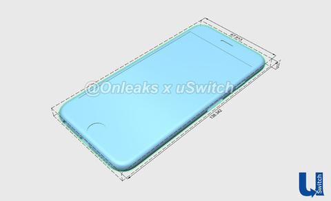 iPhone 6s renders 3D azul frontal