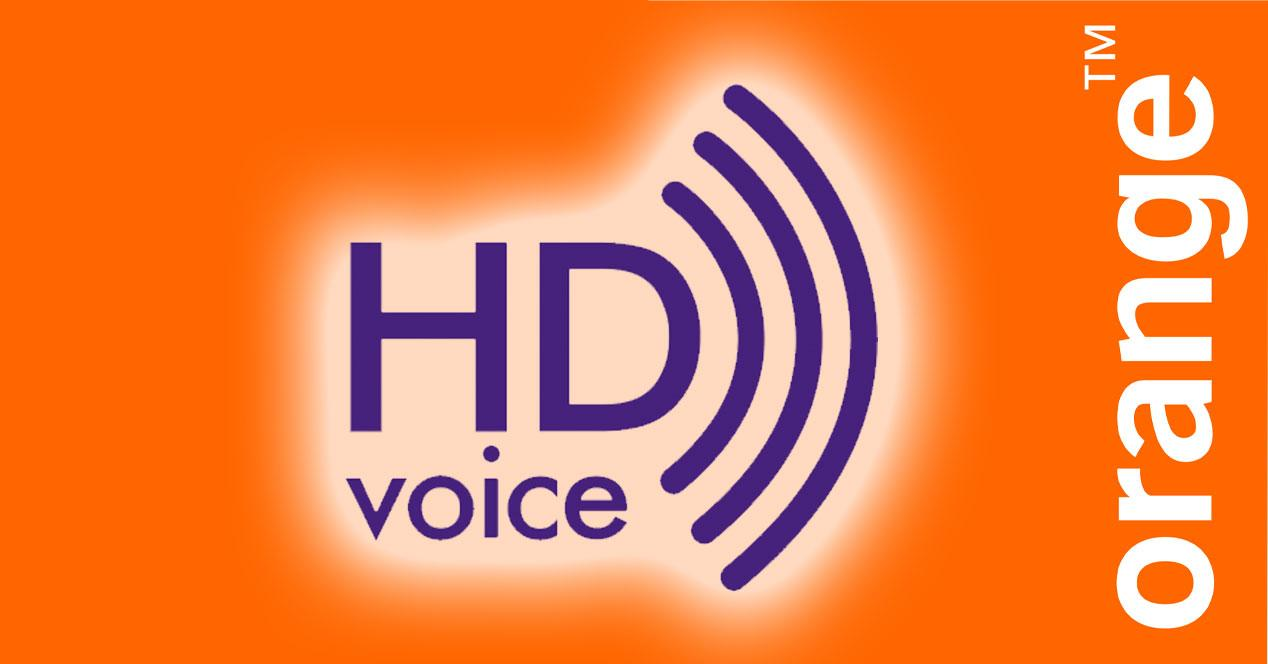 HD Voice con logo de orange