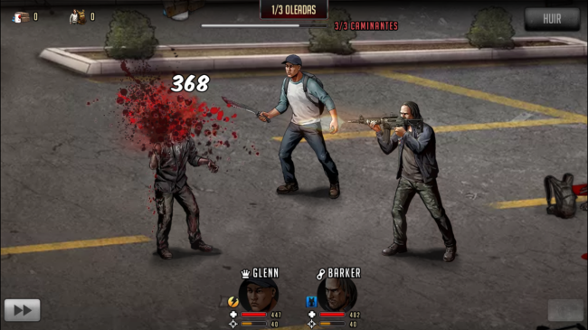 The Walking Dead Road to Survival para iOS y Android.