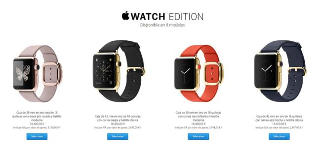 Precios del Apple Watch Edition de oro