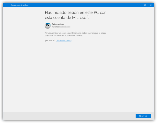 Complemento de telefono - Conectar Android a Windows 10 - asistente de Apps 1