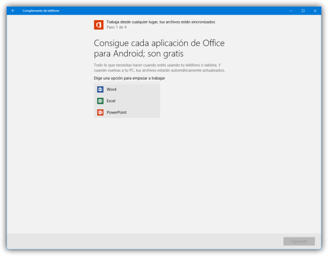 Complemento de telefono - Conectar Android a Windows 10 - asistente de Apps 3