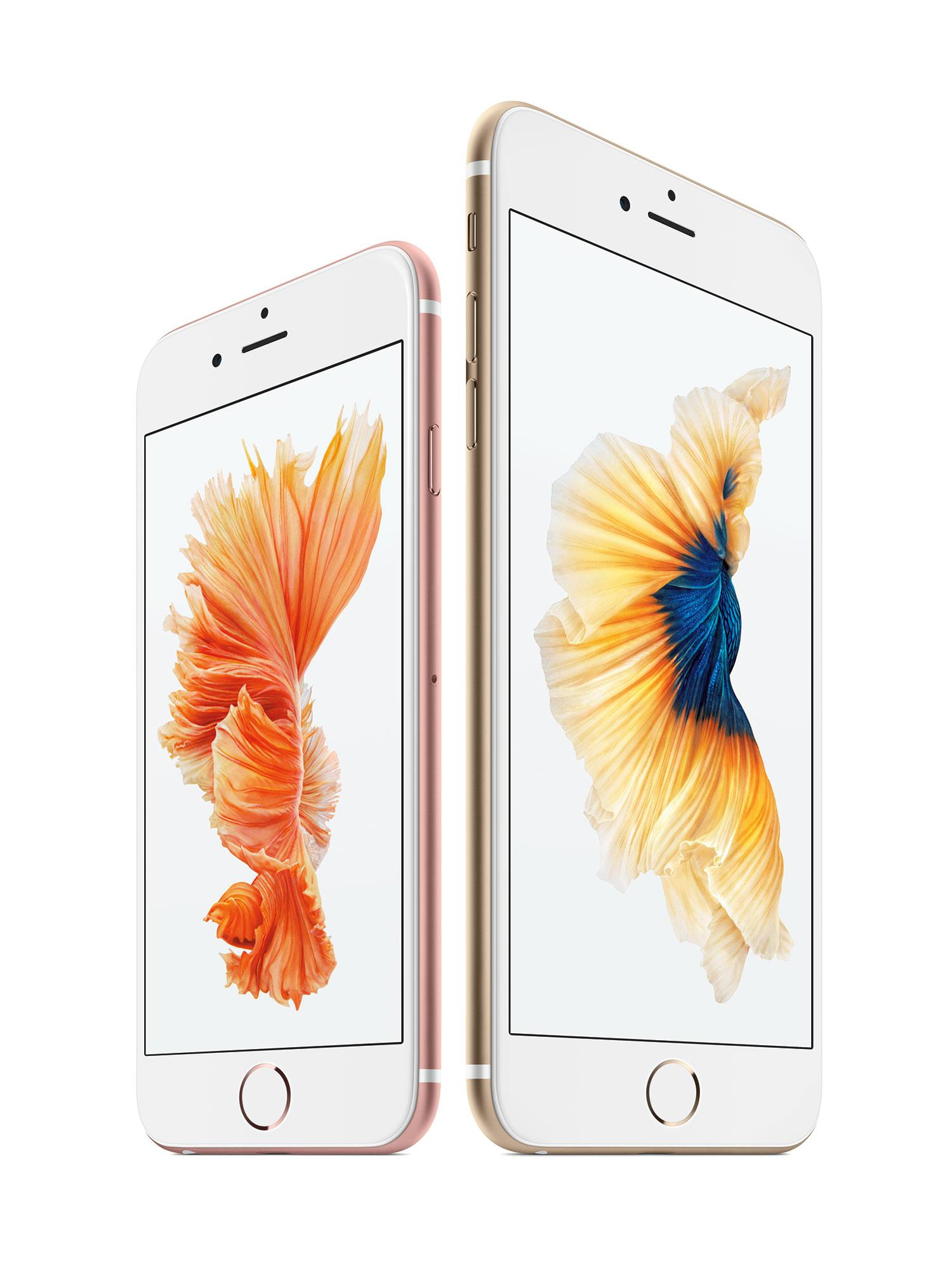 iPhone 6s y 6s Plus en color rosa y oro