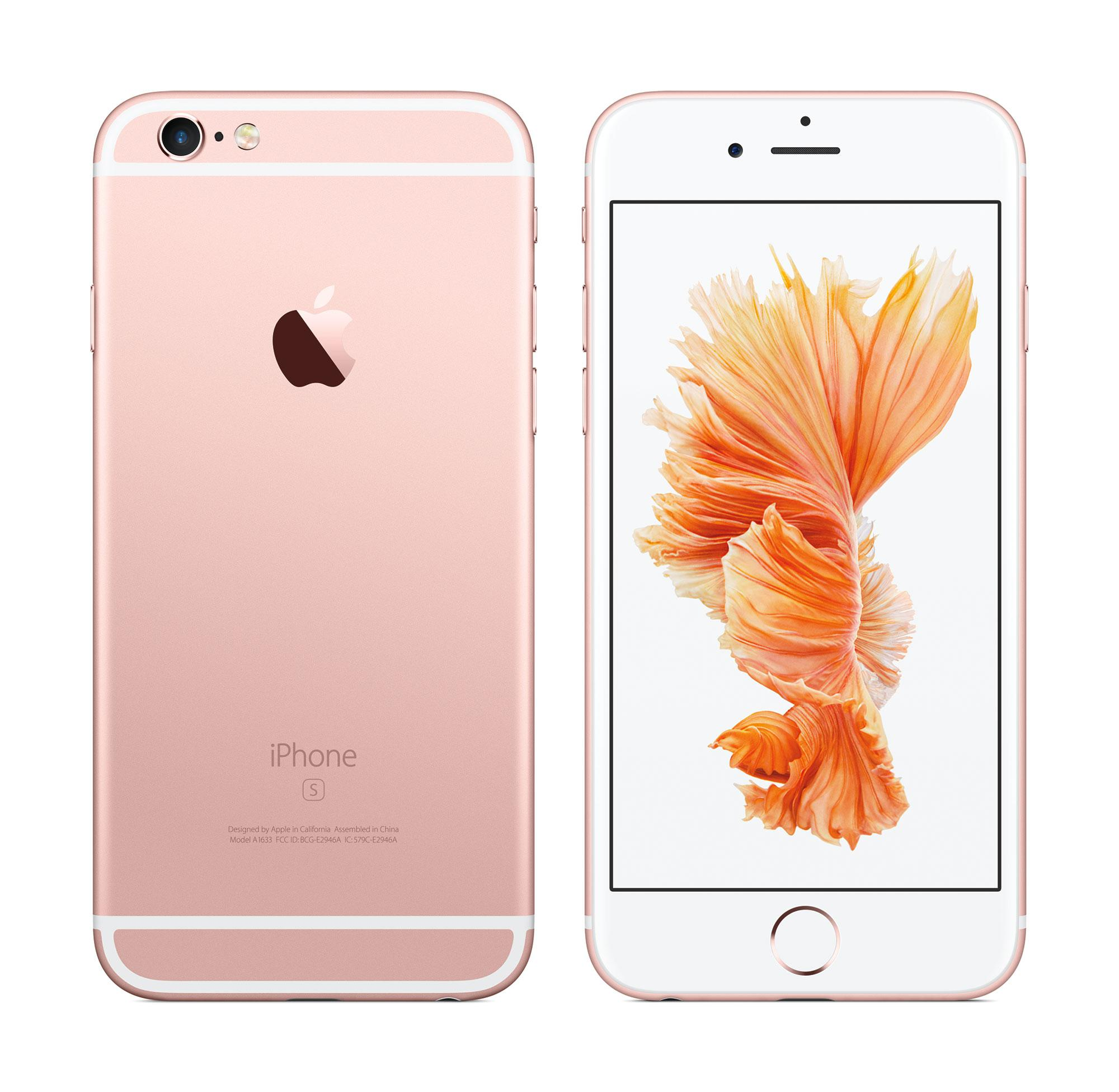 iPhone 6s en color rosa