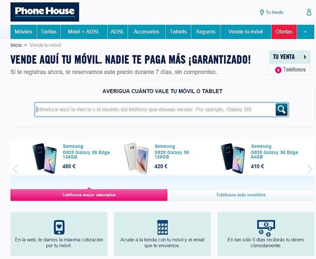 Descuentos con pan removil de Phone House