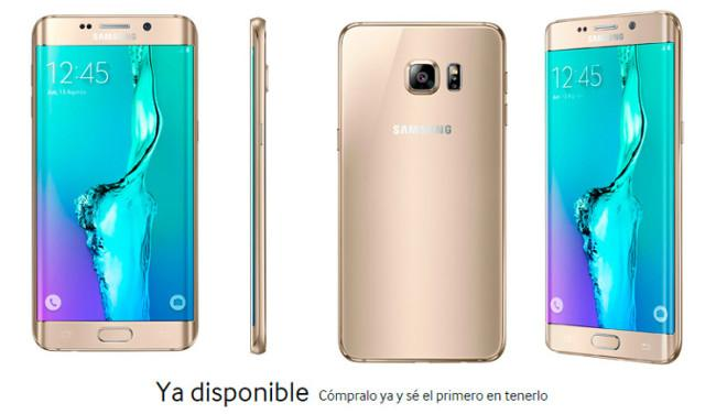 Samsung Galaxy S6 Edge Plus dorado
