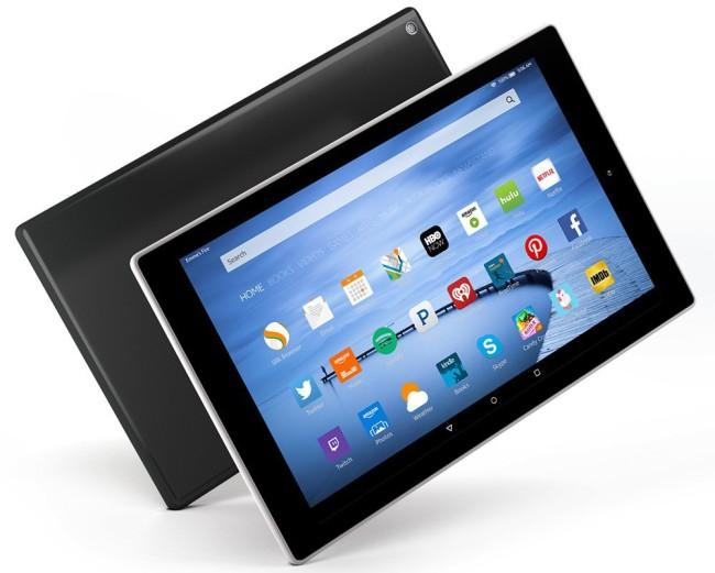 Kindle Fire HD10 trasera frontal
