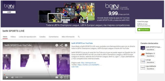 Canal de BeIN Sports en YouTube