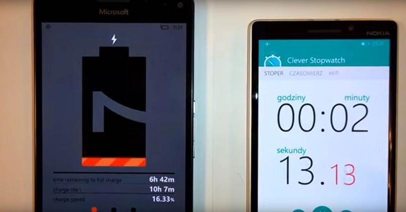 Lumia 950 XL test carga rapida