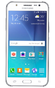 Samsung Galaxy j5 blanco frontal