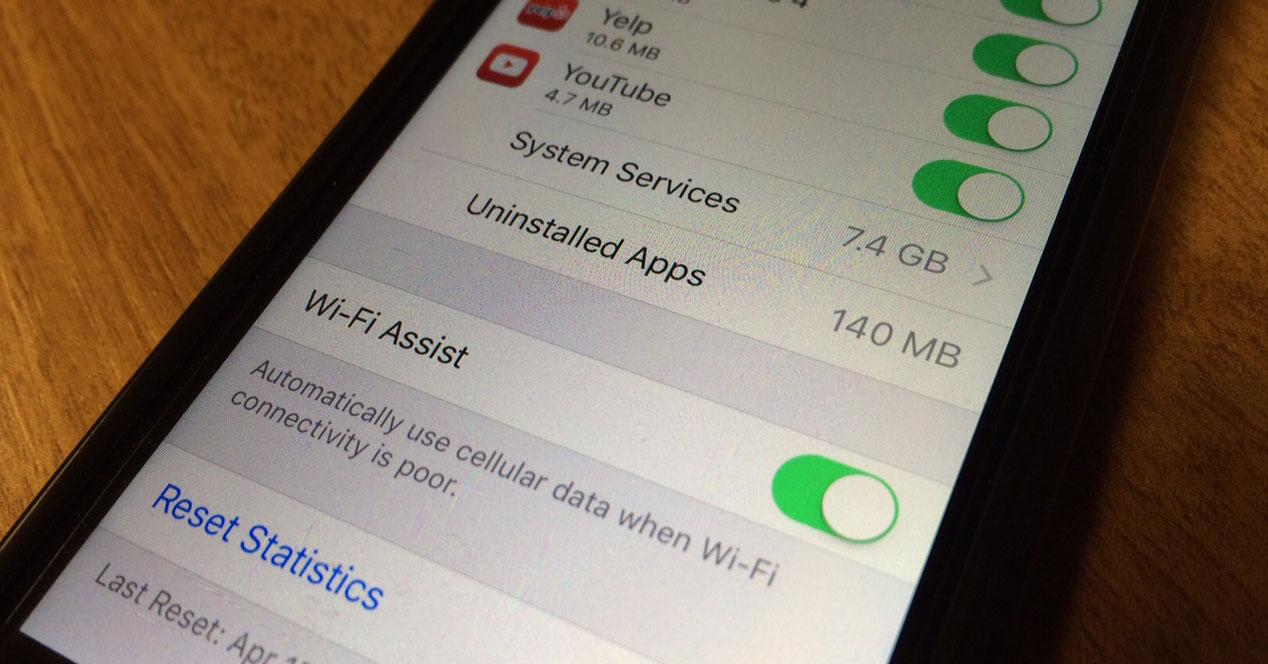 Función Wi-Fi Assists en iOS 9