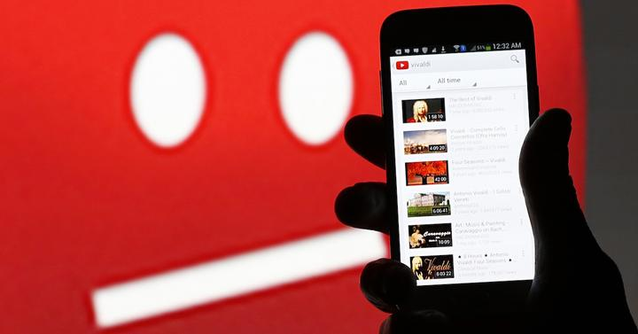 Youtube en un smartphone