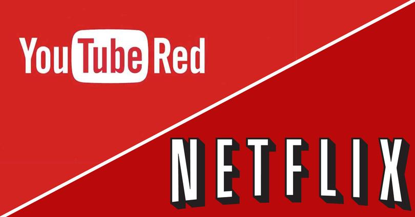 logos youtube red y netflix