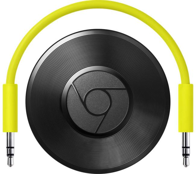 Chromecast Audio con cable amarillo