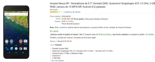 Nexus 6P en Amazon