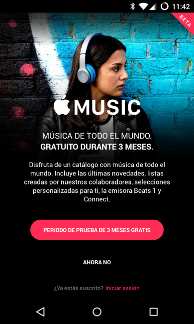 Pantalla principal Apple Music