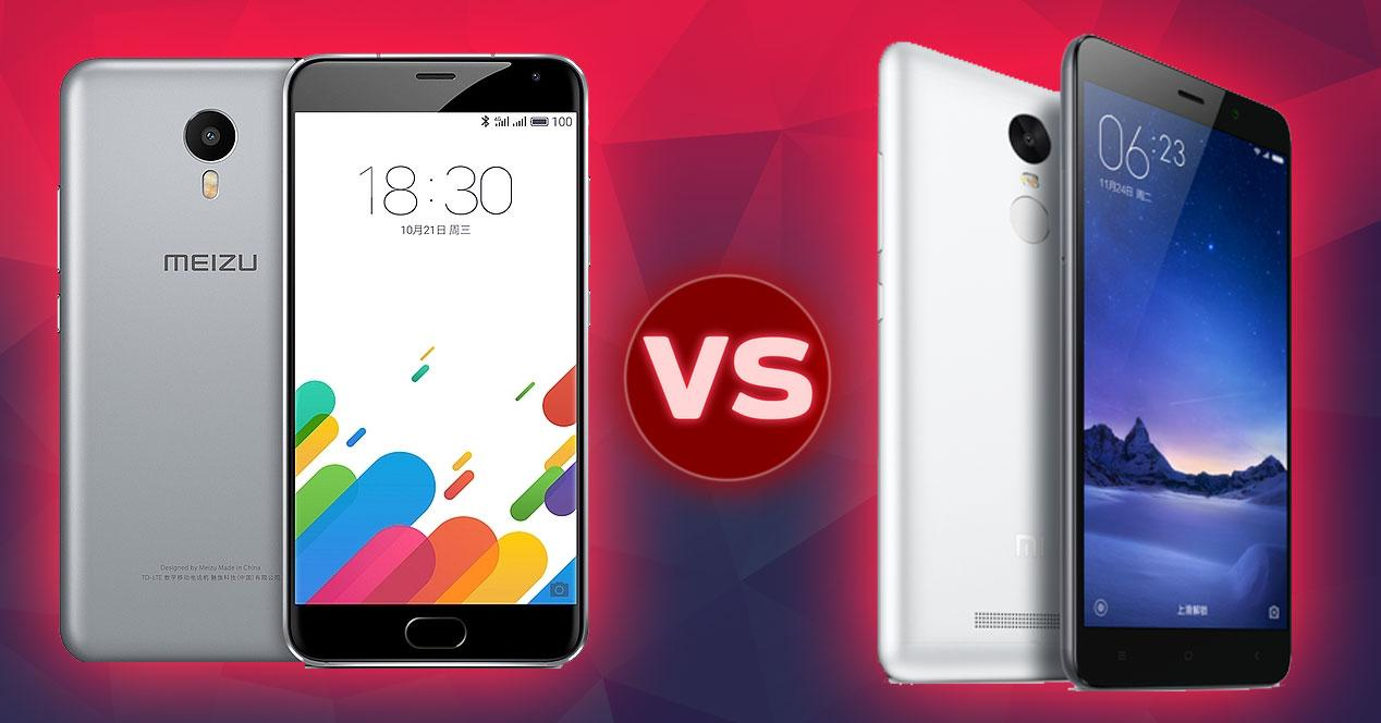 Xiaomi Redmi note 3 vs meizu metal
