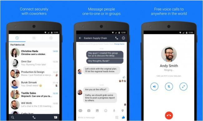 Facebook at work chat Android