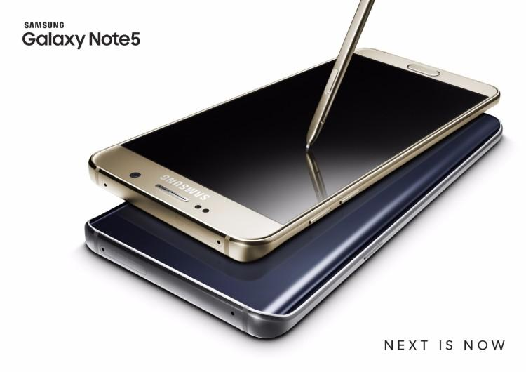 Samsung Galaxy Note 5 dorado
