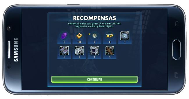 Recompesa de batalla en el jeugo Star Wars: Galaxy of Heroes