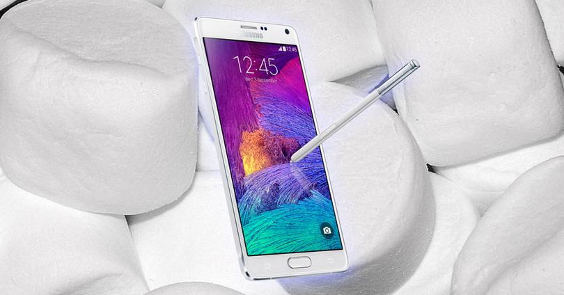 Samsung Galaxy Note 4 con marshmallows