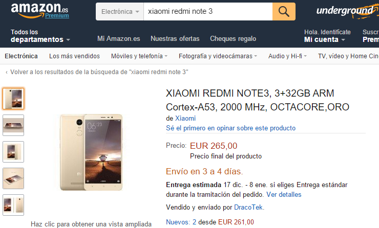 redmi note 3 amazon