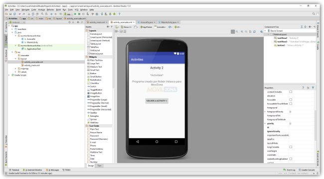 Android Studio - Cambio de actividad - View Activity 2