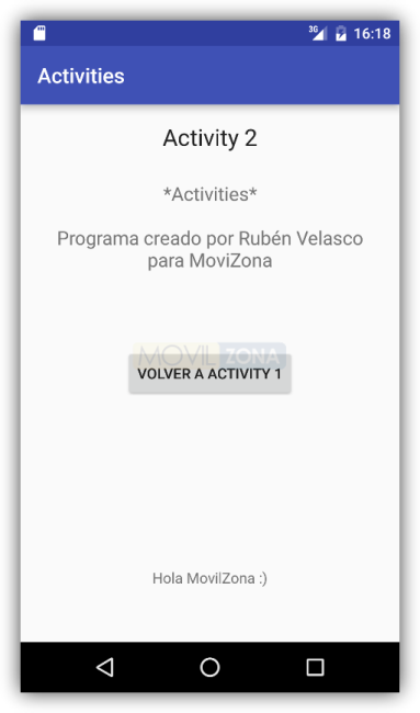 Android Studio - Dos Activity con pase de parámetros 2