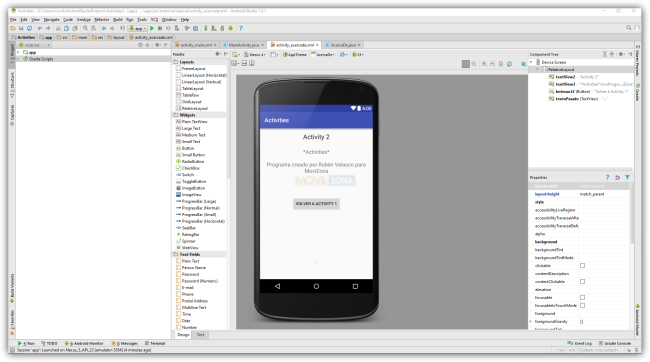 Android Studio - Dos Activity con pase de parámetros - Activity 2