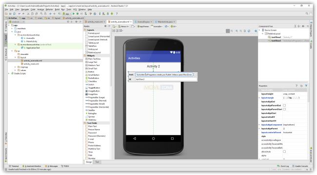 Android Studio - Modificar Views