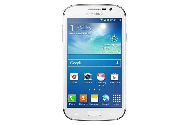 Samsung Galaxy Grand Neo Plus blanco vista frontal